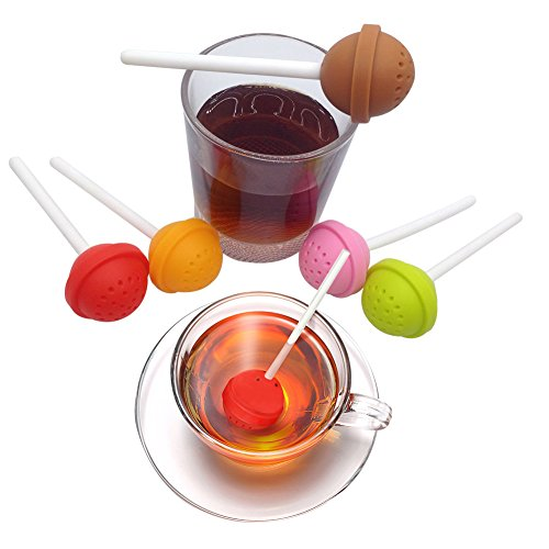 Infusore per tè, 5pezzi, in silicone, per tazza
