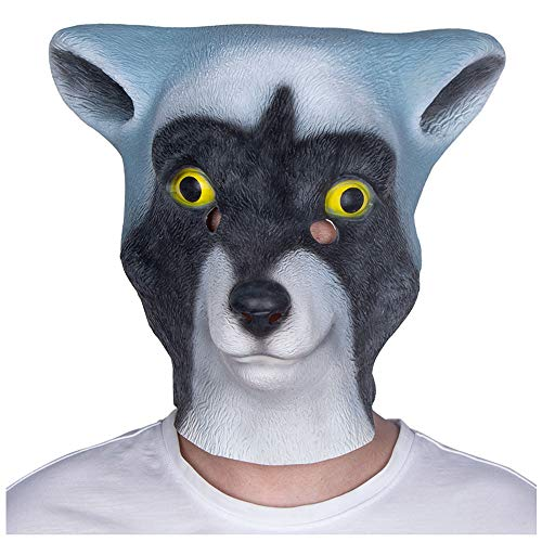 (Maske YN Halloween Lustige Cute Teddy Pet Gott Probleme Dog Animal Hood Erwachsene Latex Show Requisiten (Color : Rocket Raccoon))