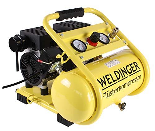 WELDINGER Flüsterkompressor FK 95 compact 750 W Luftabgabe 90 l ölfrei