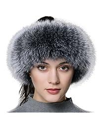 0e1253fc69535 URSFUR elegante diadema cossak de piel auténtica estilo ruso invierno  Earwarmer orejeras gorro de esquí
