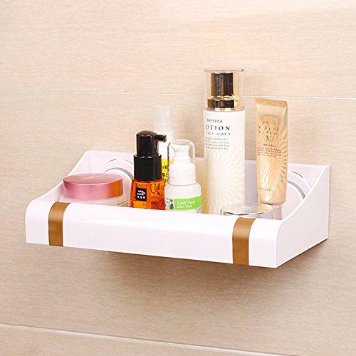 Forte ventosa plastica rack/Parete del bagno bagno/ scarico rack di stoccaggio cucina-d'oro