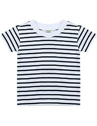 Larkwood Camiseta de Manga Corta a Rayas Unisex Para Bebé