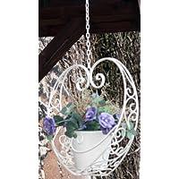 Vaso a forma di cuore da appendere in metallo, stile Shabby Chic Vintage