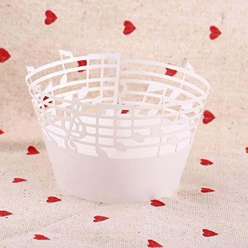 Halloween Cupcake Dekorationen Rezept - 50 Stücke Cupcake Papper Wrapper Musiknoten