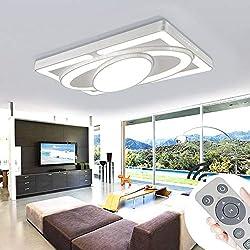 MYHOO 78W LED Plafonnier Plafonnier Salon Salle De Bains Cuisine Panneau Luminaire Dimmable (3000-6500K)[Classe énergétique A++]