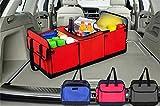 Faltbare mehrere Fach Car trunk Lagerung Organizer in Car Boots tidy Lagerung Box mit warmen oder kalten Tasche , blue