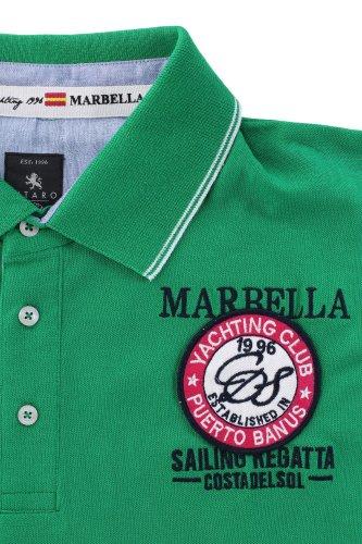Exklusives Poloshirt von Kitaro --- Marbella Sailing Regatta --- Grün
