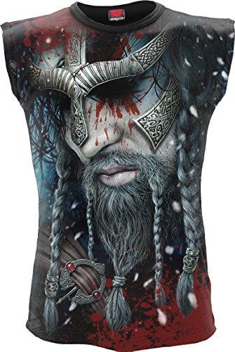 Spiral Mens - Viking Wrap - allover Sleeveless T-Shirt Black -