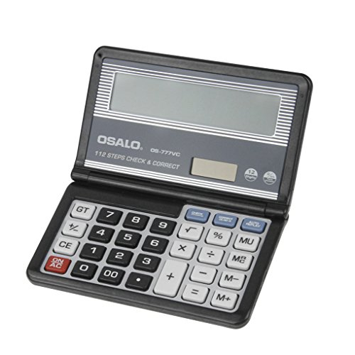 Elektronischer Taschenrechner faltbar Caculator Dual-Power(Solar und Batterie) Tischrechner 12-stellige großes Display Business-Tischrechner für Geschäftsbüro Schule