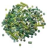 Beadsnfashion Seed Bugles Beads Green As...