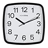 Wm.Widdop Plastic Wall Clock with Sweep - Black