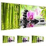 Bilder 100 x 40 cm - Orchidee Bild - Vlies Leinwand - Kunstdrucke -Wandbild - XXL Format - mehrere Farben und Größen im Shop - Fertig Aufgespannt !!! 100% MADE IN GERMANY !!! - 502012a