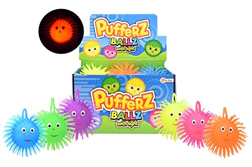 Toi-Toys Puffer Ball mit Licht , 36600z, Farbig sortiert, 1 Stück
