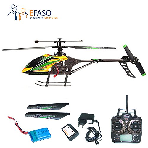 RC Helikopter efaso V912 - Upgrade Edition - 2,4 GHz, 4-Kanal Single Blade Gyro mit Kameravorbereitung (Hubschrauber 912)