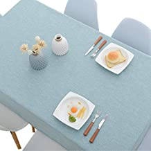 P&P Lino Color SóLido IKEA PañO De Mesa RectáNgulo Comedor Sencillo Moderno Mantel ...