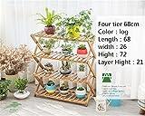 2-5 Tier Rechteckigen Multi klappregal Holzpflanze Blume Ausstellungsstand Holz Pot