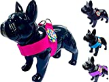 Flower Dog Pet Puppy Harness in Pink Designer Fabric with rhinestone detail For Small Xsmall Medium Dog Breeds