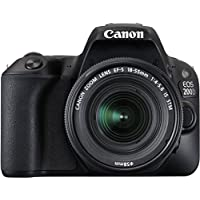 Canon Eos 200D 24.2MP Digital SLR Camera + EF-S 18-55 mm is STM Lens + EF-S 55-250 mm is STM Lens, Free Camera Case and 16GB Card Inside