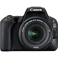 Canon EOS 200D 24.2MP Digital SLR Camera + EF-S 18-55mm f4 IS STM Lens