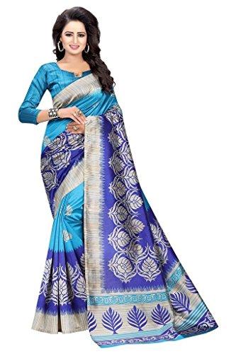 Vinayak Trendz Cotton Silk Saree With Blouse Piece (Saree Sale Mkd_Orange_Free Size)