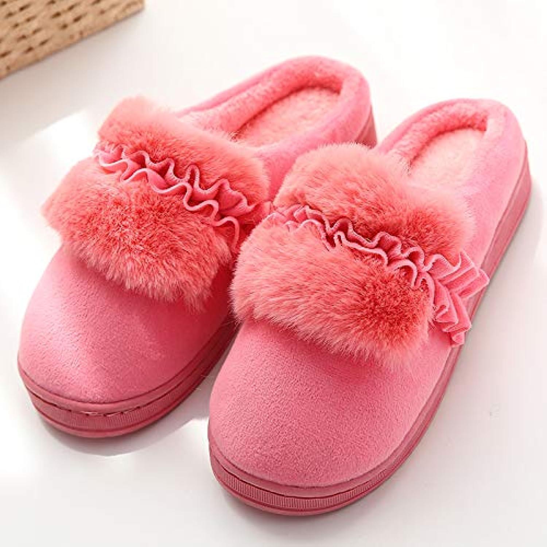 HUAIX Home Pantoufles en Coton pour Hommes et en Femmes en Automne et en et Hiver (Color : Red, Size : 3) - B07K6GZZRW - 3c6cb8