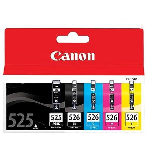 Canon Pixma MG5250 Cartridge Large Black Ink Genuine(cyan, magenta, gelb, schwarz)(3Stk + 1Stk +