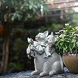 Statue da Giardino Americana Cat Opera Impermeabile da Giardino in Resina Sculture per Yard Paesaggio Prato Ornamenti del Giardino A-Height 26cm Length 18cm Width 20cm