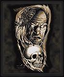 Mousepad Mauspad - Wikinger Totenkopf Schädel Skull - 92305 Gr. ca. 24cm x 20cm - Design-Serie - Milosch Kollektion©