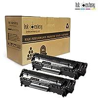 Ink Centery - Pack de 2 tóners compatibles con HP Q2612A, FX10, FX9, 104. Color negro, capacidad de impresión 2.000 páginas