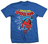 Marvel Comics - Spidey Stamp Blu (T-Shirt Unisex TG. 2XL) Rock Merchandising