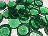 Large Green Glass Decorative Pebble Beads - Aquariums Floral Candle Displays Wedding Christmas Crafts