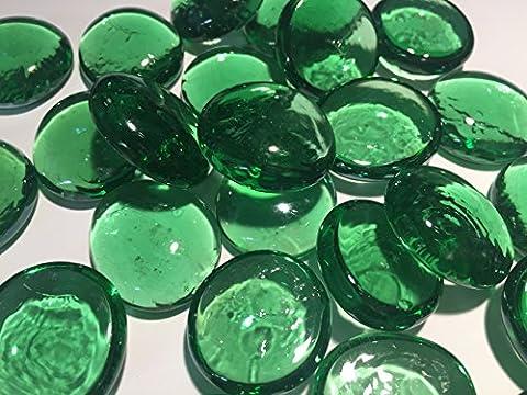 Groß, Grün Glas Deko Pebble Steine–Aquarien Floral Kerze zeigt Hochzeit Weihnachten Crafts