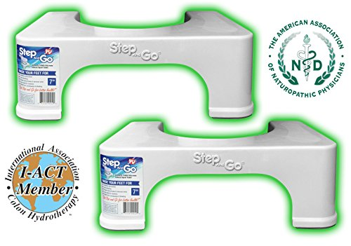Step and Go 2 Pack 17.8 cm Toilet Step (Pack of 2)