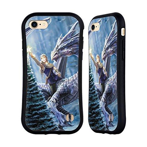 Ufficiale Anne Stokes Folletti della neve Feste Case Ibrida per Apple iPhone 5 / 5s / SE Fantasia Invernale