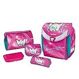 """Herlitz 50007653 zainetto Flexi Inoltre, chiusura magnetica petto """"Smart Lock"""", 17-piece cassa di matita, borsa da ginnastica, mocassini triangolari, rosa Lunch Box, design: Fata, 1 pezzo"""