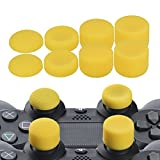 YoRHa Professionelle Aufsätze Daumengriffe Thumb Grips Thumbstick Joystick Cap Cover (Gelb) Extra Hoch 8 Stück Pack für PS4, Switch PRO, PS3, Xbox 360, Wii U Tablet, PS2 Controller