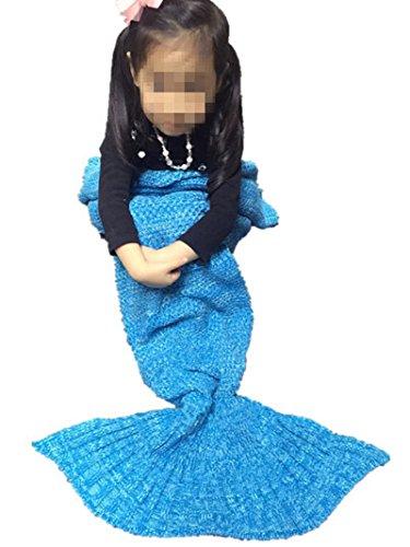 lana de sirena de cola de pez manta tejida de la camilla...