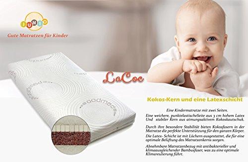 Colchón de cuna de núcleo fibra de Coco y 100 % Látex , Colchón de