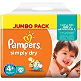 PAMPERS Simply Dry Taille 4+ (Maxi+) 9 a 20 kg cou