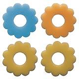 Excelsa Confezione 4 Assorbigocce in Spugna, Plastica, Multicolore