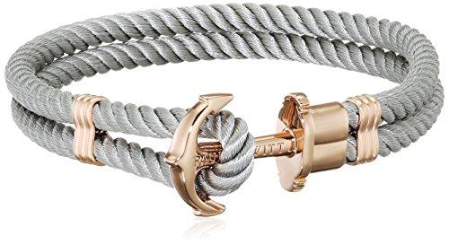 PAUL HEWITT Damen Ankerarmband PHREP mit Nylon Band in Grau und Anker aus IP Roségold PH-PH-N-R-Gr-XXXL