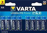 Varta Longlife Power Batterie (AA Mignon Alkaline Batterien LR6 - 8er Pack)