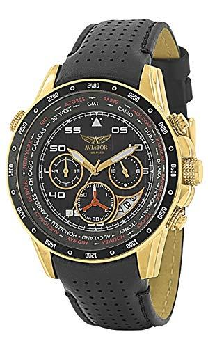 Aviator AVW7770G116 - Orologio da polso, pelle