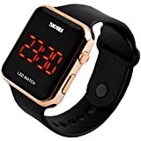 SunJas Armbanduhr Sport Fashion LCD Digital Datum Sport-Armbanduhr Wasserdicht (Gold)