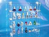 Setzkasten für Parfum Miniatur Flakons aus Acrylglas SL017 Rückwand Spiegel