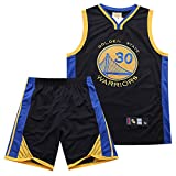 Bksport Golden State Warriors Stephen · Curry Uomo Basket Maglia, Camicie retrò Cucite, Pallacanestro Sport Jersey, Tops & Shorts 2 Pezzi