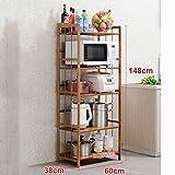 CivilWeaEU- Küche Regalboden Mikrowelle Abstellraum Küche Supplies Aufbewahrungsfach Bäckerei -Regal ( Farbe : 60 )
