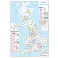 UK Postcode Area Map - Large Wall Map For Business