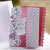 10 personalisierte Einladungskarten Einladung zur Hochzeit Taufe Kommunion Konfirmation Firmung Geburtstag rosa Handarbeit binnbonn