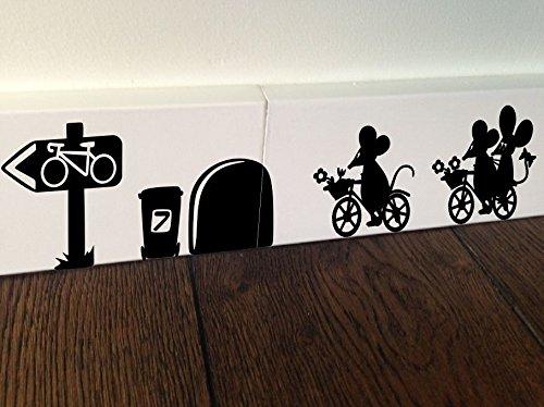"te / Wandaufkleber, Schriftzug ""Home Sweet Home"" mit Maus-Motiv, selbstklebend (Diy-cornhole-set)"